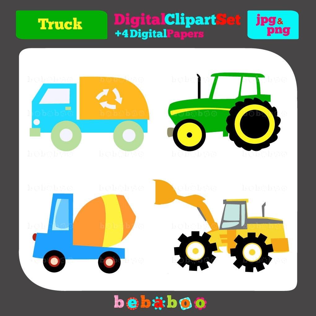 Trucks Clip Art/Digital Clipart/Trucks Clipart/Trucks Clip