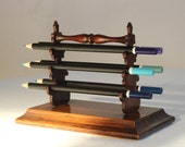 Rare English Antique Wooden Pen Rack / Époque Vintage