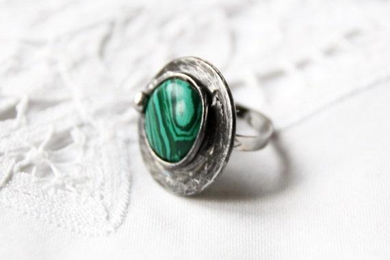 big large green malachite ring by creativestudioml