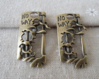 3pcs 40x23mm Antique Bronze   lock charming( A220)