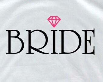 Bride shirt groom t shirt bride entourage groomsmen gift  bride to be bride gift bride for bride groom gift from bride bridesmaid