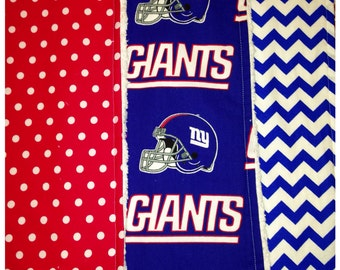 4th and Nap - NY Giants burp cloth set of 3