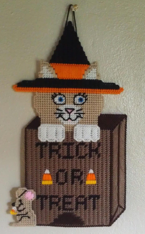 Halloween Cat Door Hanger ~ 230255_Halloween Door Hanging