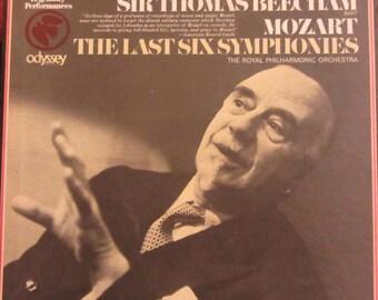 Thomas Beecham Mozart Last Six Symphonies Haffner Linz Prague Jupiter 3 LPs Royal Philharmonic