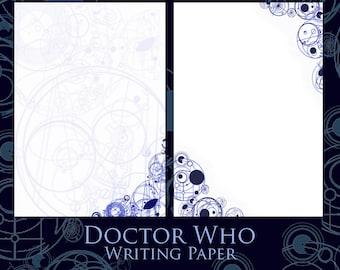 Doctor Who writing paper - gallifreyan, whovian, darlek, cyberman