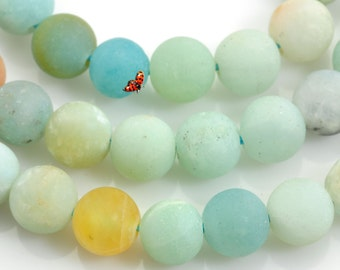 Amazonite Matte Round beads 6mm,62 pcs