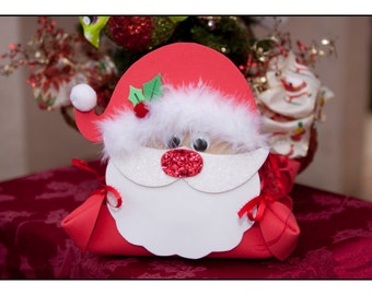 CHRISTMAS Gift Basket - HOLIDAY Gift Basket - Santa - Great Kids Gift - Holiday Basket