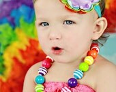 Somewhere over the rainbow Chunky Necklace
