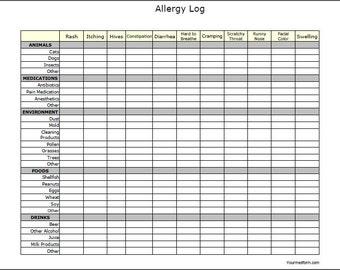 Diabetes Check Up Log / Diabetic / Diabetes / Printable /