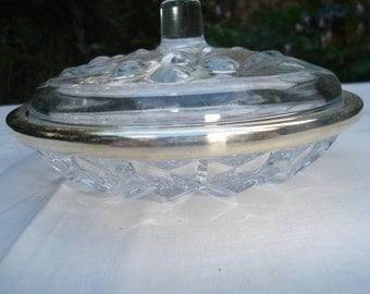 Very beautiful crystal sugar bowl of the 1950 s. Beautiful sugar crystal of the 1950s.