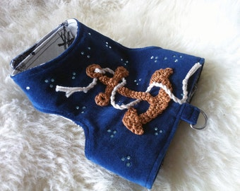 Small dog Harness - The Nautical Harness, by La Maison Vienna Couture Canine