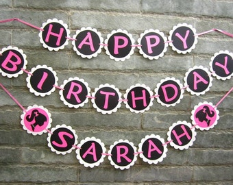 PERSONALIZED Barbie Birthday Party Banner.
