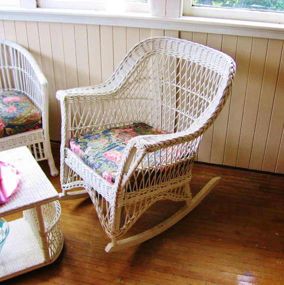 items similar to antique wicker chair rocking chair