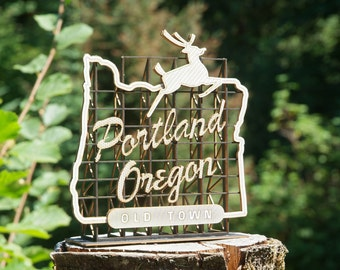 Model Kit of the Portland Oregon Sign, White Stag Sign, Made in Oregon, Retro Style, Architects Design