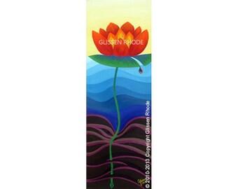 Fire Lotus Print