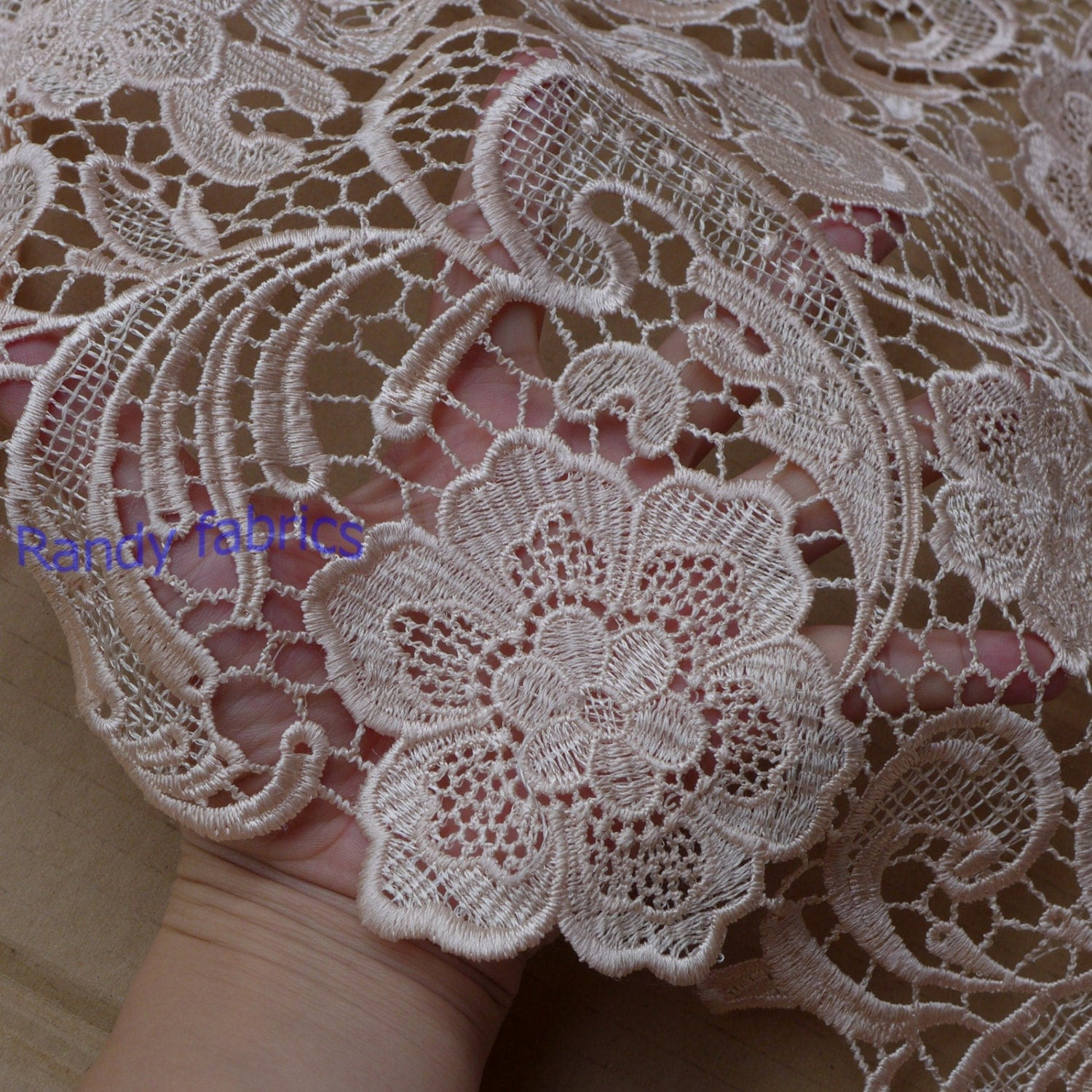 Light Pink dress lace fabrics 120cm wide wedding dress fabric