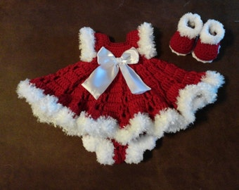 Christmas baby dress outfit beau tiful on baby