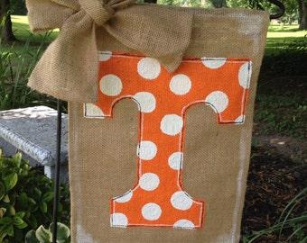 Tennessee Vols Burlap Garden Flag