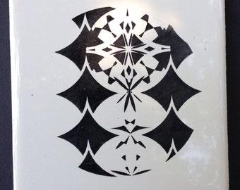Laser Engraved Ceramic Coaster Set