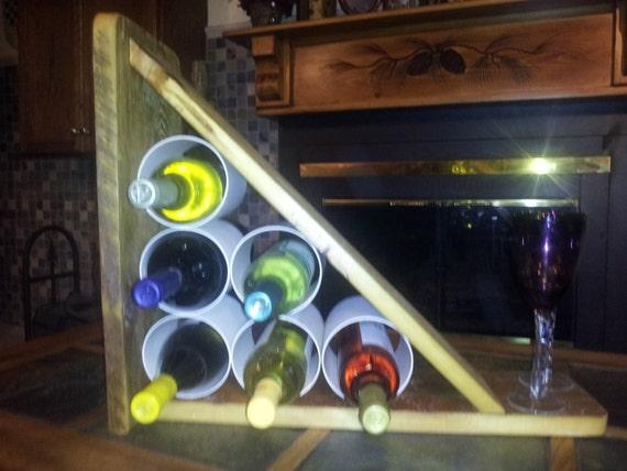 Items Similar To Sale Wood Wine Bottle Table Rack