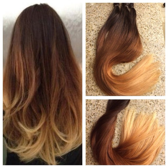 Ombre Remy Fusion I Tip Stick Tip 100% Human Hair Extensions 20in 100 ...