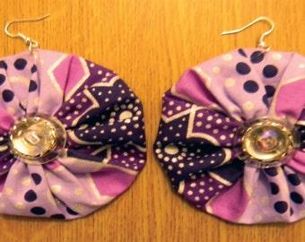 Handmade African Print Earrings