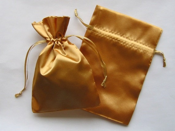 Gold Wedding Gift Bags : ... Gold Satin Favor Bags, For Wedding Favors, Baby Shower, Jewelry, Gifts