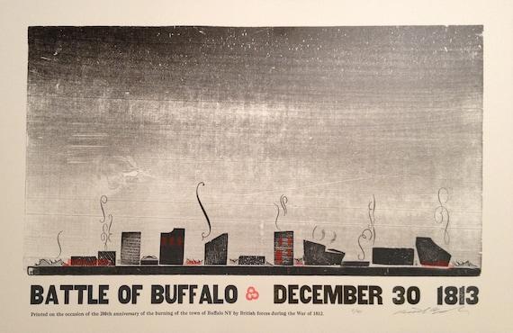 Battle of Buffalo 1813 (200th Anniversary)  Letterpress Print