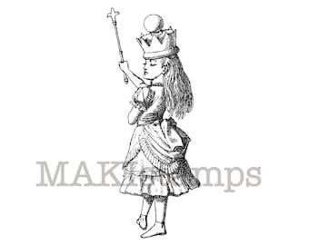Rubber stamp of Queen Alice / Alice in Wonderland stamp (130108)