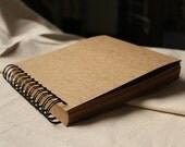 98 pages Wedding Guestbook // Kraft Scrapbook Album // Spiral Bound