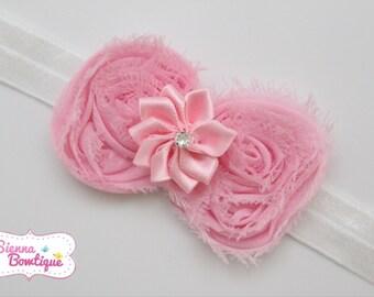 Choose Colour Baby Girl Shabby Bow Headband