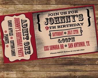 Printable Carnival/Western Birthday Invitation