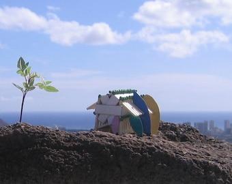 My Little Grass Shack in Hawaii, matchstick house