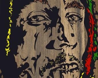 Bob Marley Digital Art Print