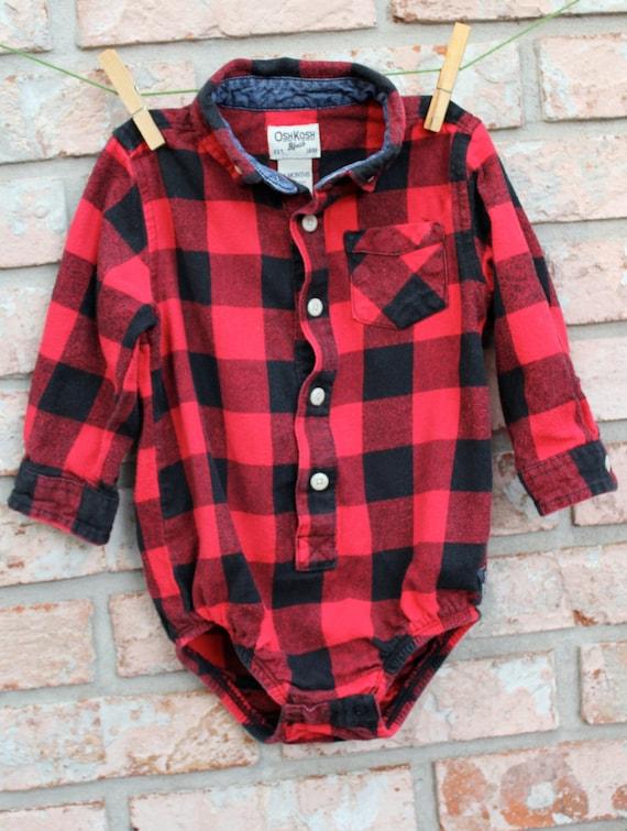 Lumberjack Flannel Onesie