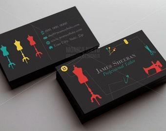 Custom Premade Tailor Business Cards Template