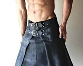 New Spring Summer KILT, Leather Gladiator kilt Warrior Design Soft Lambskin Made to measure