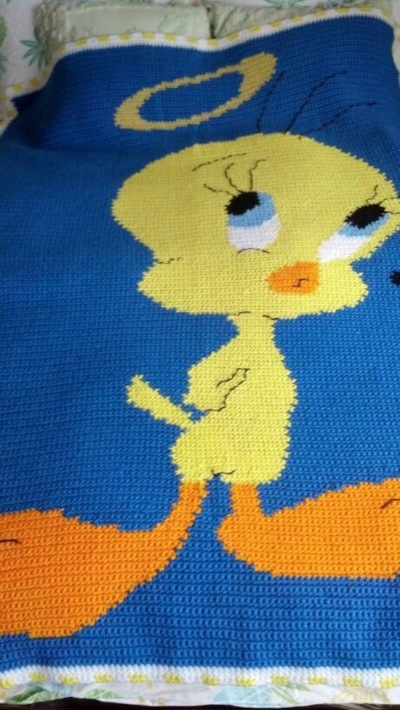 Crochet Tweety Bird Afghan