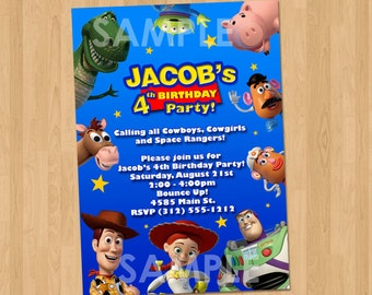 Toy Story Invitation - Toy Story Party Invite - Custom Personalized Toy Story Party Birthday Invite Disney - Toy Story Party Printable Ideas