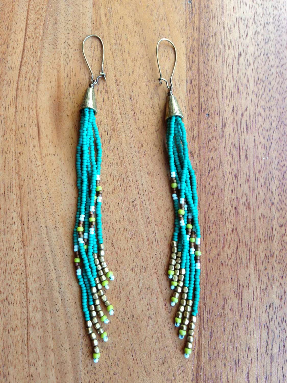 seed bead earrings seed bead earrings fringe