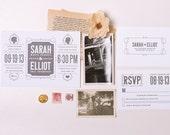 Elliot Letterpress/Digital Wedding Invite Set - WednesdayPress