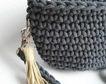 Crochet Dark Gray Bag