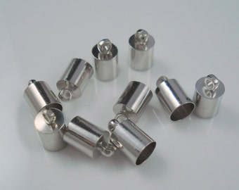 5MM End Cap, TEN Caps for Leather or Cord, Simple 5mm Cap (CAP55-1)