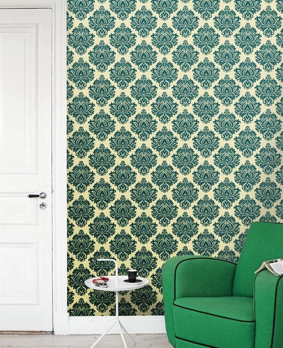 Removable self adhesive modern vinyl wallpaper wall sticker for Modern vinyl wallpaper