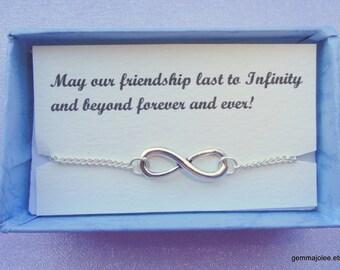 Infinity bracelet gift, Friendship gift, Silver infinity bracelet, Infinity bracelet Infinity jewelry Minimalist bracelet, Bridesmaids gifts