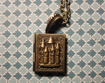 Castle Book Pendant