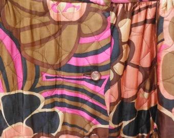 Floral Full Length Skirt, Nordstrom Best, Vintage 1960's - 1970's, Size S/M