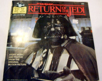 Star Wars Return of the Jedi 24 page book and record, complete 1983, collectible Sci Fi book