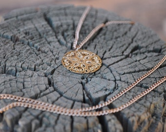 Lace Coin Necklace