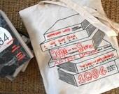 Haruki Murakami Book Tote Bag Stack- Embroidered Hand Painted - Literary Literature Novels